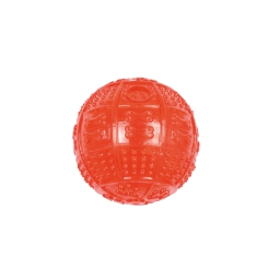 balle distributeur de croquettes en tpr dia 8cm - rouge