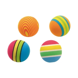 balles ping pong pour chat decorees en eva/4 dia3.5cm