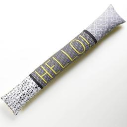 bas de porte 85 x 15 cm polyester imprime hello