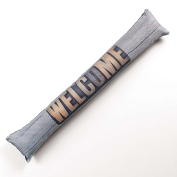 bas de porte 85 x 15 cm polyester imprime welcome chic