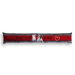 bas de porte 85 x 15 cm polyester imprime welcome home