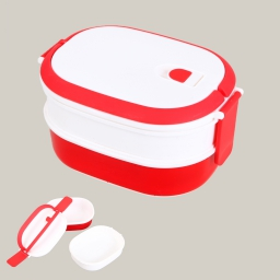 Bento box 2 compartiments pp 20.5 x 14.5 x 11.5 cm Rouge