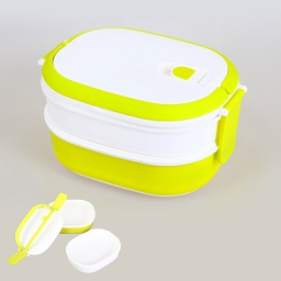 Bento box 2 compartiments pp 20.5 x 14.5 x 11.5 cm Vert