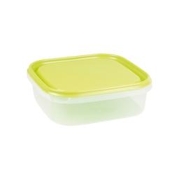 boite carre 1.3l avec couvercle - 19.5*19.5*h6cm - vert