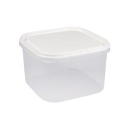 boite carre 2.8l avec couvercle - 19.5*19.5*h12cm - blanc
