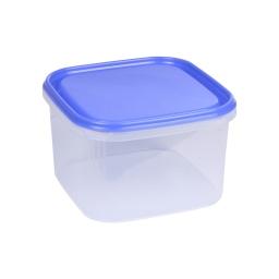 boite carre 2.8l avec couvercle - 19.5*19.5*h12cm - indigo