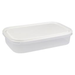 boite rect avec couvercle 2l - 29*19*h6cm - blanc