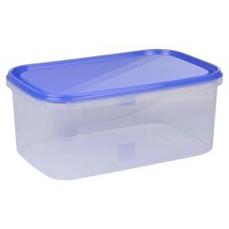 boite rectangle 4.4l avec couvercle - 29*19*h12cm - indigo