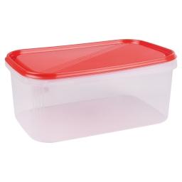 boite rectangle 4.4l avec couvercle - 29*19*h12cm - rouge