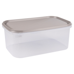 boite rectangle 4.4l avec couvercle - 29*19*h12cm - taupe