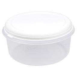 boite ronde 7l avec couvercle - ø29*h14.5cm - blanc