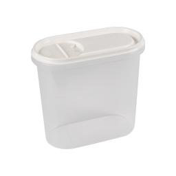 boite saupoudreuse 2l avec couvercle - 19*10.5*h18cm - blanc