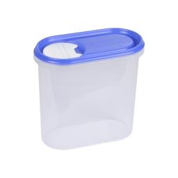 boite saupoudreuse 2l avec couvercle - 19*10.5*h18cm - indigo