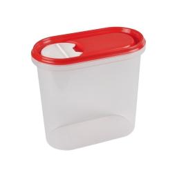 boite saupoudreuse 2l avec couvercle - 19*10.5*h18cm - rouge