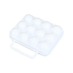 boîte transport 12 oeufs 20*15*h7cm blanc
