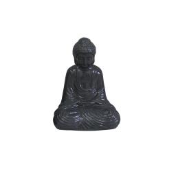bouddha ceramique 13*9*h19cm gris