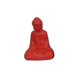 bouddha ceramique 13*9*h19cm rouge