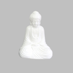 bouddha ceramique 17*13*h25cm blanc