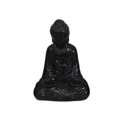 bouddha ceramique 17*13*h25cm noir