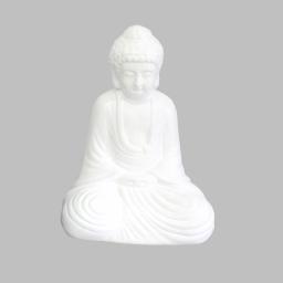 bouddha ceramique 21*14*h30cm blanc