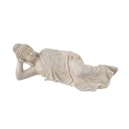 bouddha couché en magnesie - h.25*l.80*29cm
