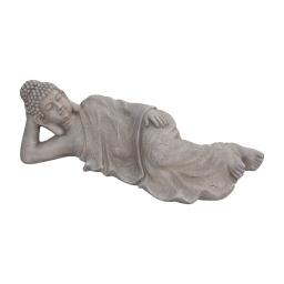 bouddha couché magnesie 80*29*h25cm creme