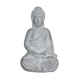 bouddha magnesie 28*22*h43cm blanc