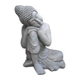 bouddha penseur h56cm gris