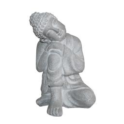 bouddha penseur magnesie 29*28*h42cm blanc