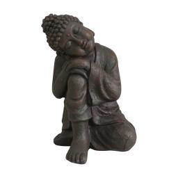 bouddha penseur magnesie 29*28*h42cm chocolat