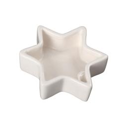 bougeoir dolomite etoile - blanc - d10.7cm
