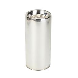bougeoir en verre-couleur argente- d6*h13cm