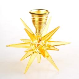 bougeoir etoile - or - environ 9cm
