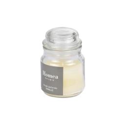 bougie bocal ø6*h.9cm essentiel parfum vanille