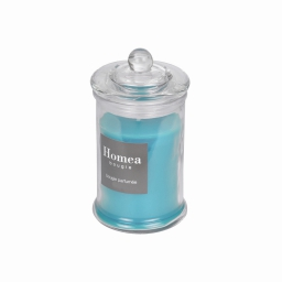 bougie bocal ø8*h.15cm essentiel parfum eucalyptus