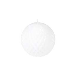 bougie boule ø9.2*h8.7cm tropical coloris blanc