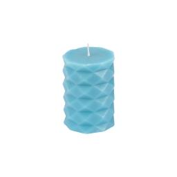 bougie pilier ø5.5*h7.6cm tropical coloris bleu