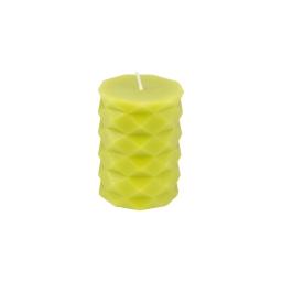 bougie pilier ø5.5*h7.6cm tropical coloris vert
