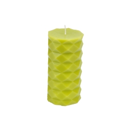 bougie pilier ø7*h13.8cm tropical coloris vert