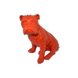 bouledogue polyresine 24.5*18*h27.5cm rouge