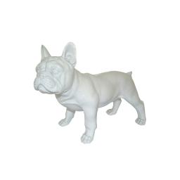 bouledogue polyresine 26.5*13.5*h22cm blanc