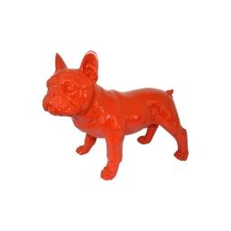 bouledogue polyresine 26.5*13.5*h22cm rouge