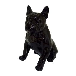 bouledogue polyresine 32.5*19*h33cm noir