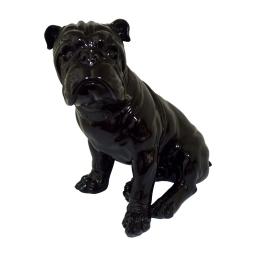 bouledogue polyresine 38.5*26*h41.5cm noir