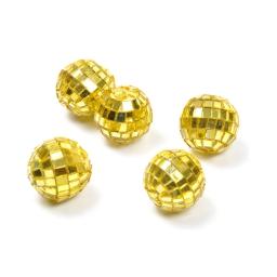 boules a facettes decoratives/8 - couleur jaune - ø3cm