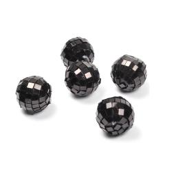 boules a facettes decoratives/8 - couleur noir  - ø3cm