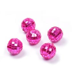boules a facettes decoratives/8 - couleur rose - ø3cm