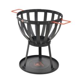 brasero laguiole - (0)33*h.41cm - en acier noir et orange