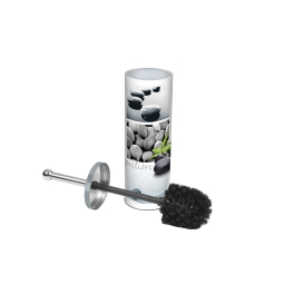 brosse wc metal imprimée stone
