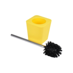 brosse wc plastique effet soft touch vitamine jaune